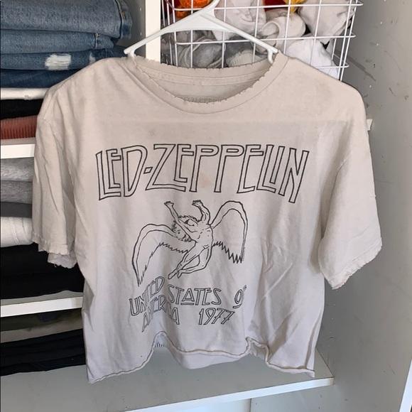 Brandy Melville Led Zeppelin Cropped Tee